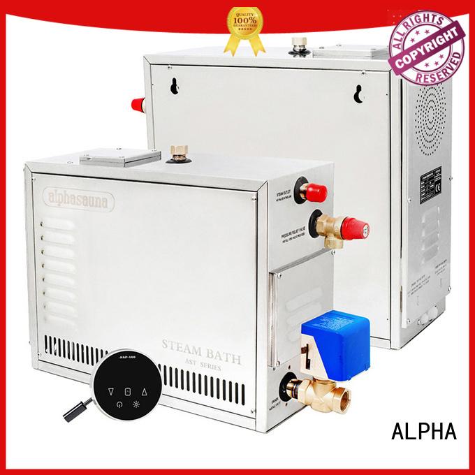 ALPHA Brand waterproof steel generator sauna steam generator