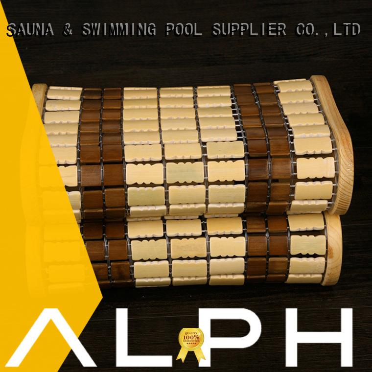 ALPHA Brand frame bamboo spruce pillow sauna accessories