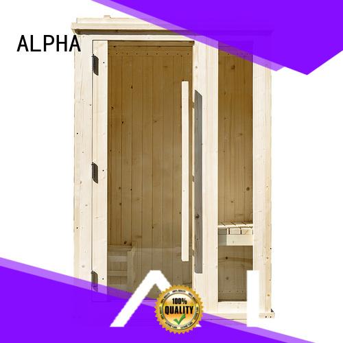 ALPHA Brand silo chemical cedar indoor sauna for sale