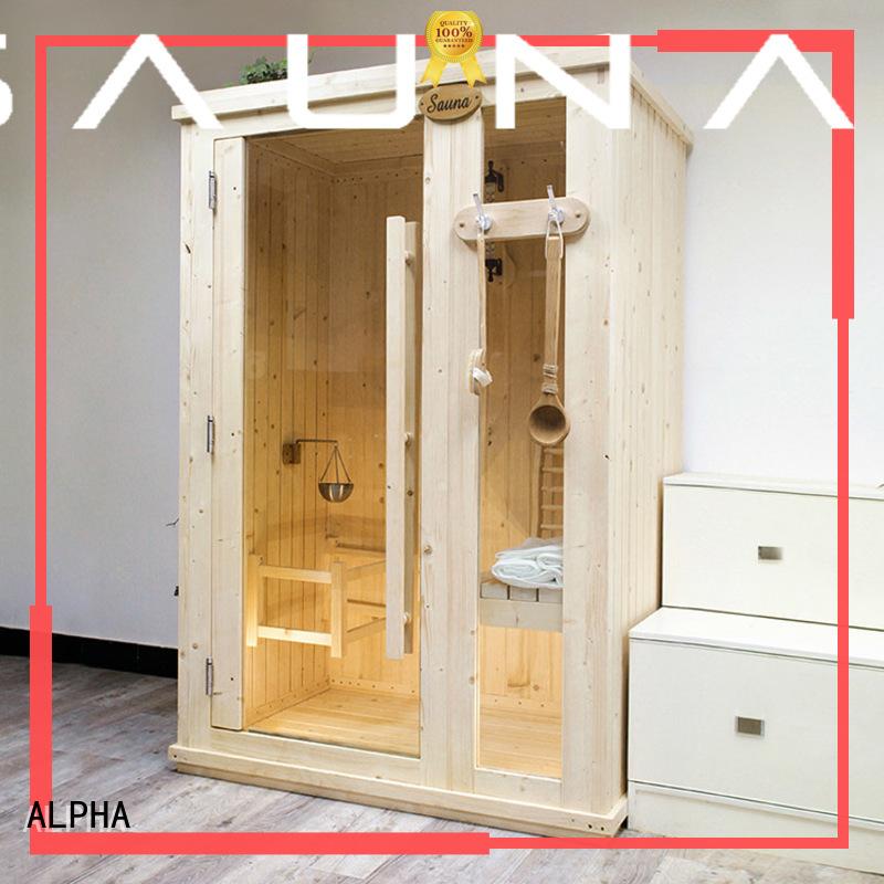 red sauna indoor sauna thickness ALPHA Brand company
