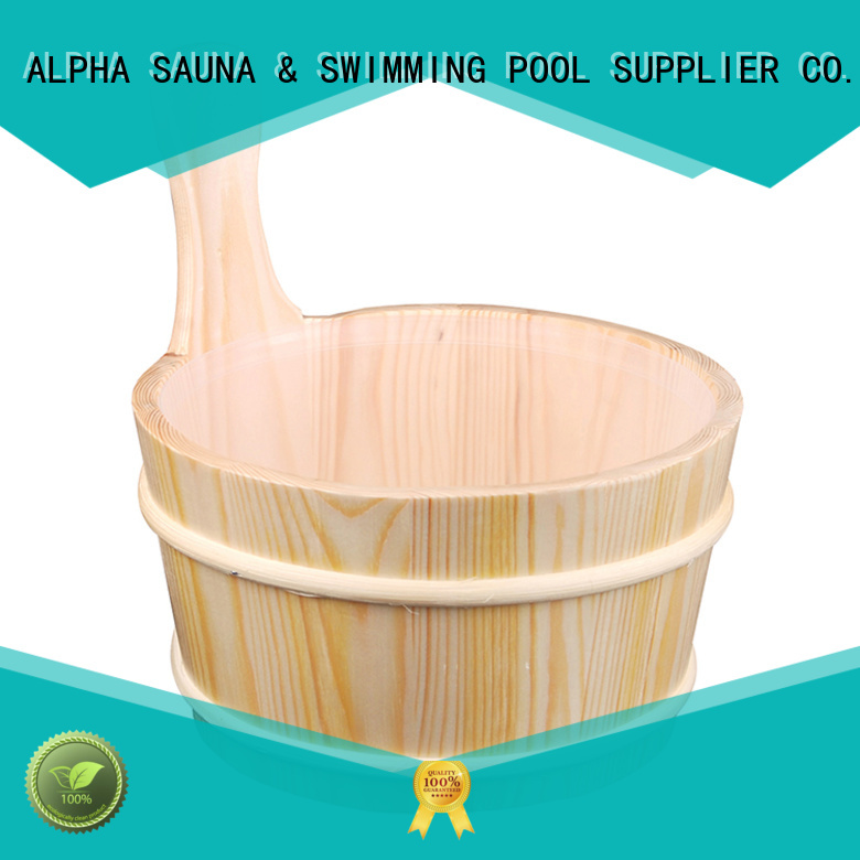 sprucered Custom alphasauna blackwhite wooden bucket ALPHA pail