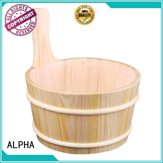 cedarspruce aluminium dry wooden sauna bucket ALPHA manufacture
