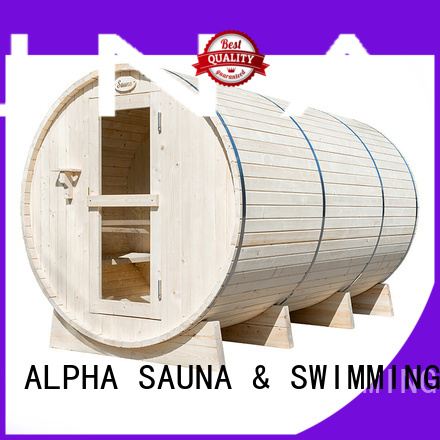 round infrared outdoor sauna electrical outdoor ALPHA company