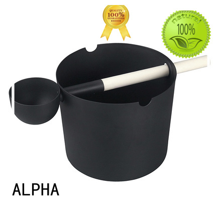 wooden sauna bucket alphasauna aspenred ALPHA Brand wooden bucket